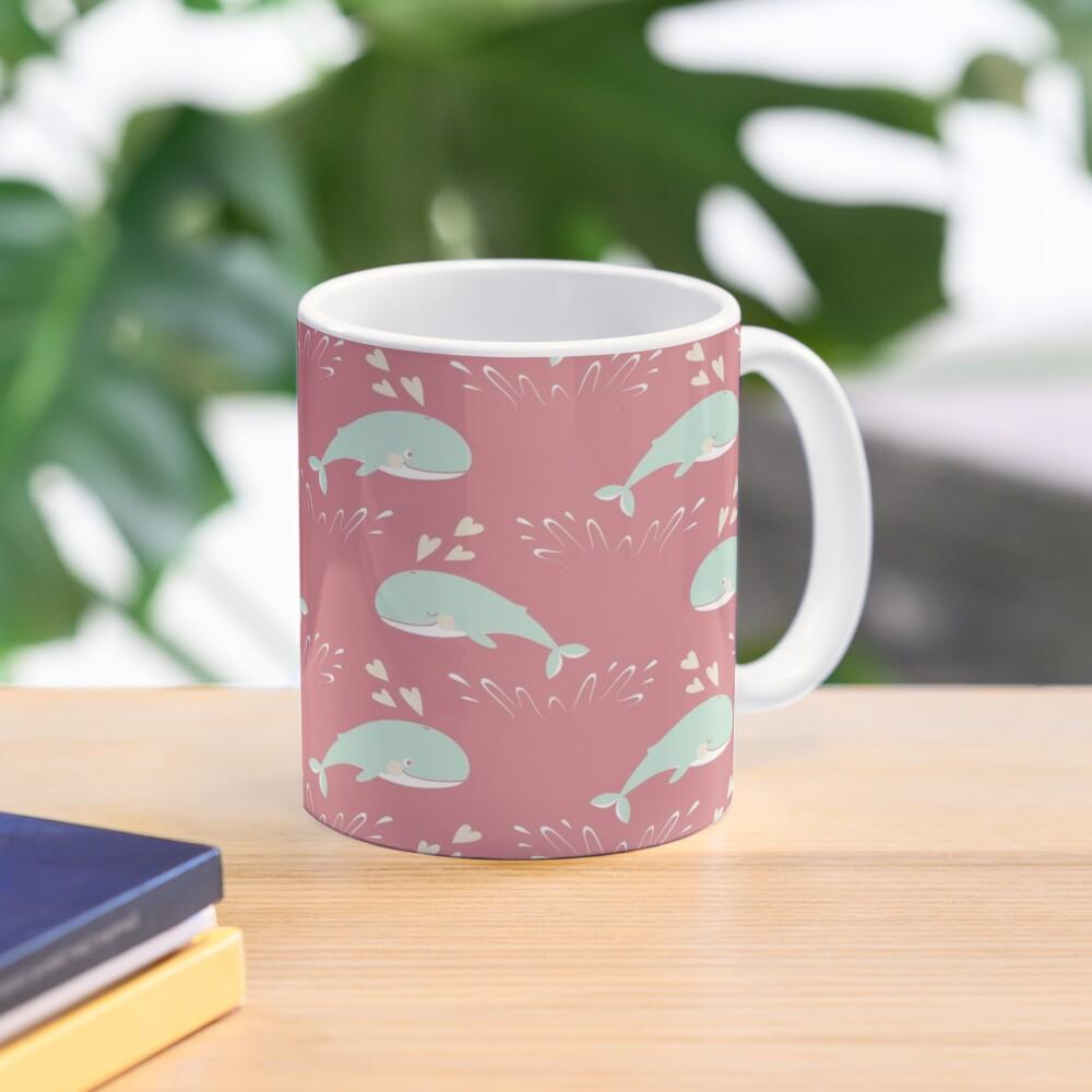 Cute jumping whales Mug