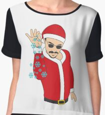 Salt Bae Santa Women's Chiffon Top