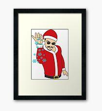 Salt Bae Santa Framed Print