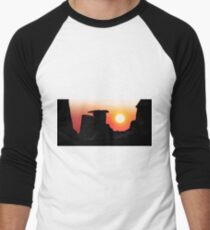 Hoodoo Sunrise Men's Baseball ¾ T-Shirt