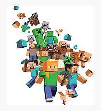 Minecraft Collage Photographic Print