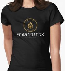 Sorcerers Sorcerer Dungeons Crawler and Dragons Slayer Women's Fitted T-Shirt