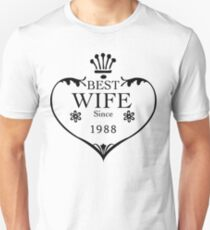 Best Wife Since 1988 29th wedding anniversary gifts  Unisex T-Shirt