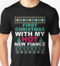Matching Couples First Christmas T-Shirt for New Fiance T-Shirt