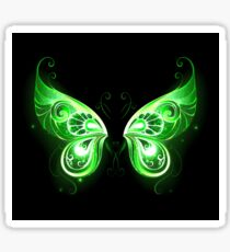 Green Fairy Wings ( Green Butterfly Wings ) Sticker