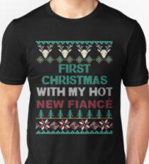 Christmas Shirt 2017 First Christmas With My Hot New Fiance T-Shirt