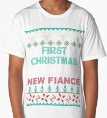Christmas Shirt 2017 First Christmas With My Hot New Fiance Long T-Shirt