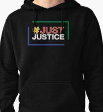 JustJustice - stacked on black Pullover Hoodie