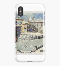 Retro VW Split screen Christmas iPhone Case/Skin