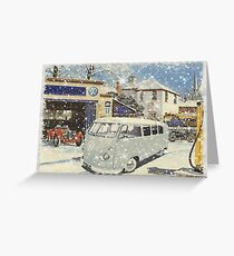 Retro VW Split screen Christmas Greeting Card