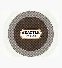 Seattle | Retro Badge Photographic Print