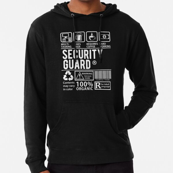 KEEP CALM IM A SECURITY GUARD OFFICER HOODIE ALL SIZES /& COLOURS