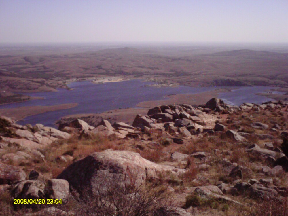 the lake from on top of mount scott by pinkbutterfly