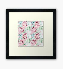 Watercolor Hand Drawn Peonies And Callas Framed Print