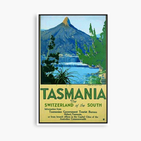 Cartel de viaje Vintage Tasmania Lienzo