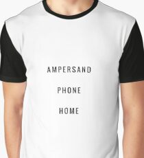 Ampersand Phone Home Graphic T-Shirt