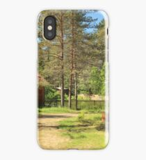 houses surrounded by pine trees iPhone Case/Skin