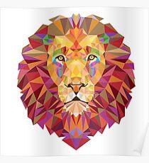 GEOMETRIC ART LION Poster