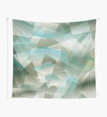 Abstract green geometric pattern Wall Tapestry