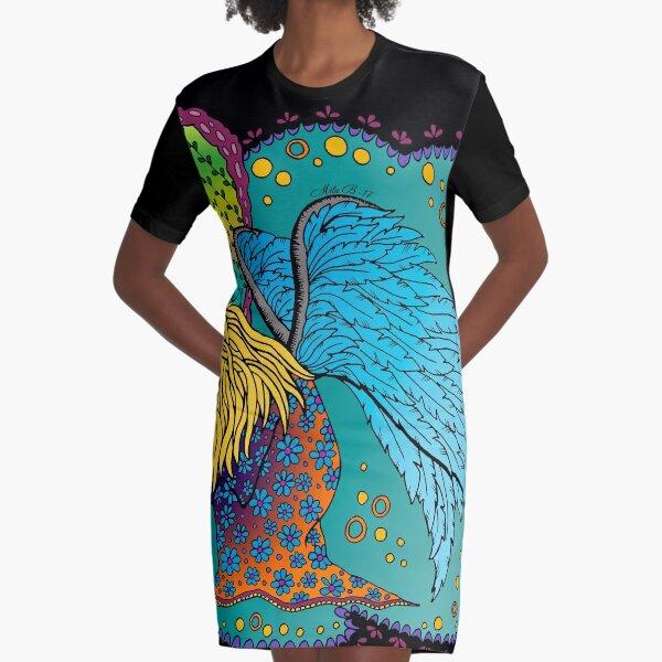Fallen angel - colored Graphic T-Shirt Dress