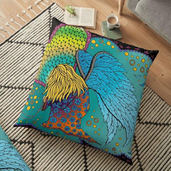 Fallen angel - colored Floor Pillow