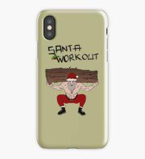 Santa Claus workout iPhone Case/Skin