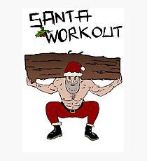 Santa Claus workout Photographic Print