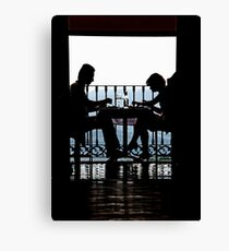 Luncheon Silhouette Canvas Print