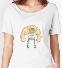 Bully Dangerous Criminal Outlined Comics Style Illustration Women's Relaxed Fit T-Shirt