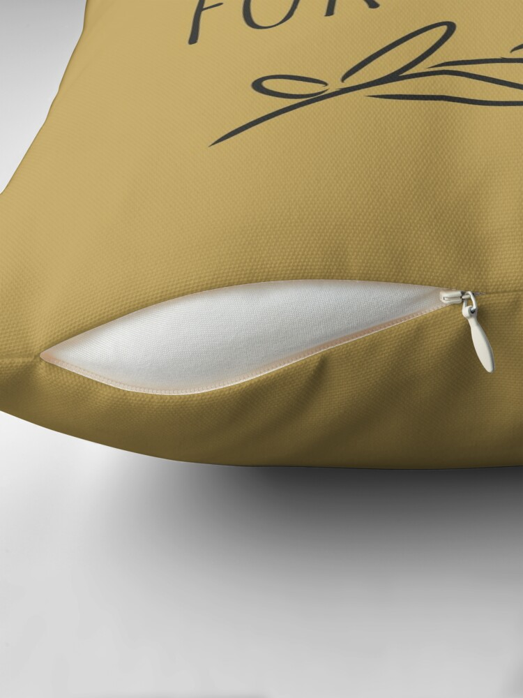 Alternate view of Reserved for the dog. Gold Throw Pillow