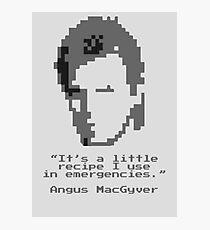 8-Bit MacGyver Photographic Print