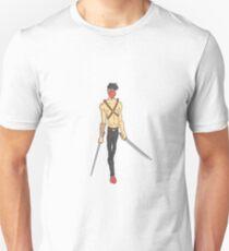 Japanese Fighter Dangerous Criminal Outlined Comics Style Illustration Unisex T-Shirt