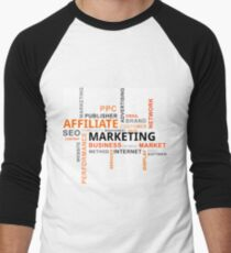 word cloud - affiliate marketing Men's Baseball ¾ T-Shirt