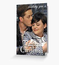 Snowing Christmas Greeting Card