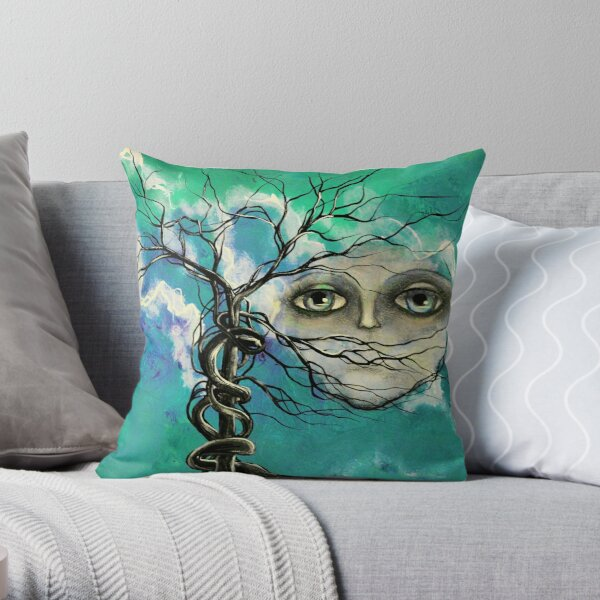 Original landscape by ANGIECLEMENTINE Throw Pillow