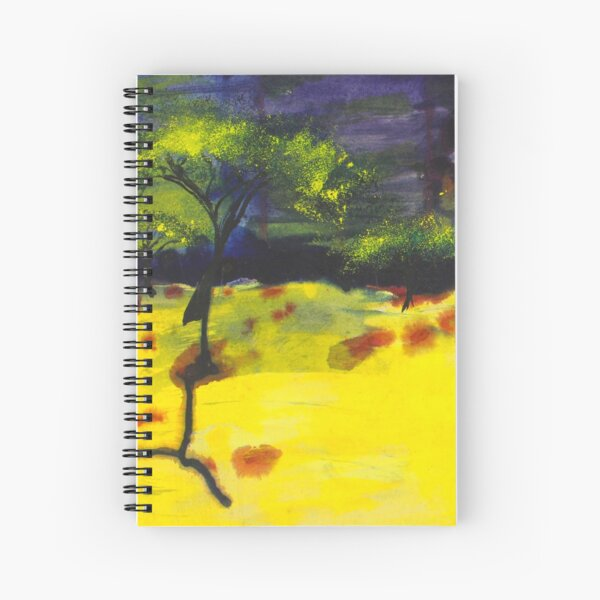 Endless Abstract Landscape Spiral Notebook