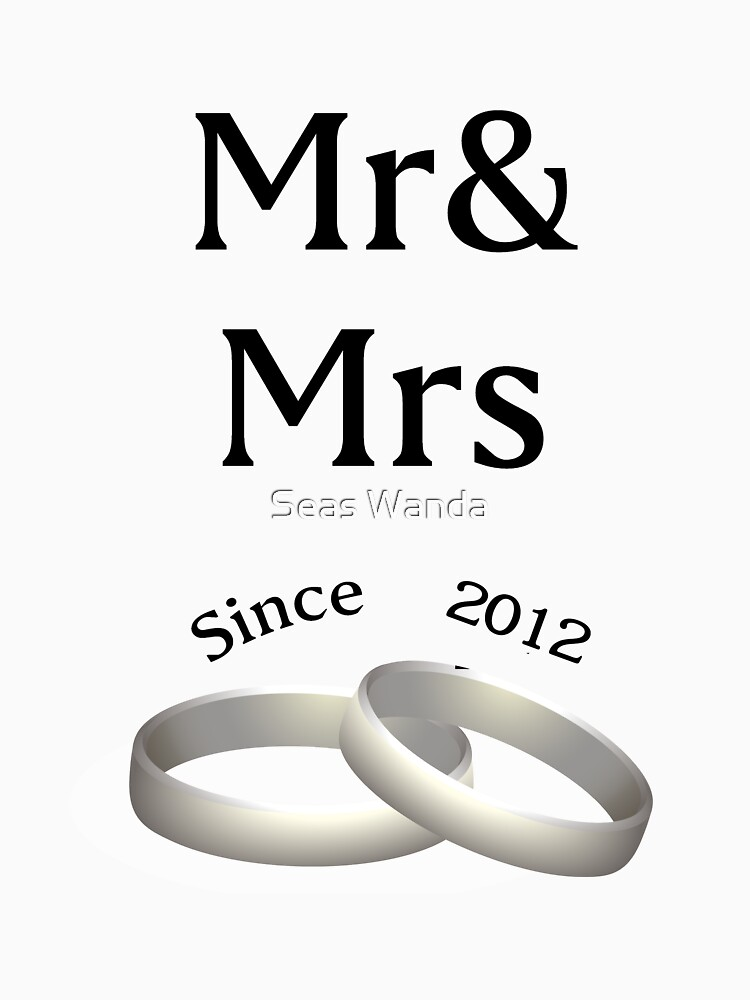 6th anniversary matching Mr. And Mrs. Since 2011 by macshoptee