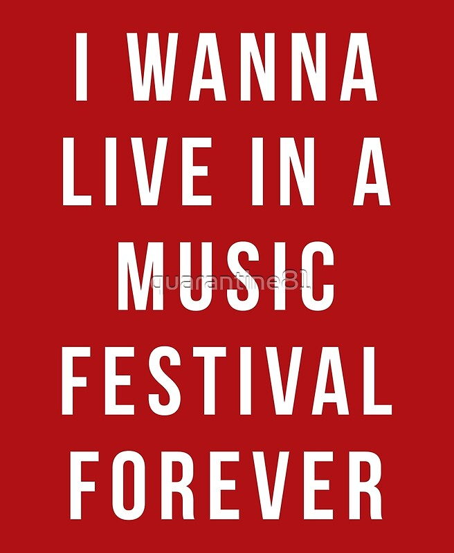 """Arts Live Song Room: """"Live Music Festival Quote"""" Art Prints By Quarantine81"""