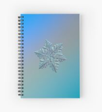 Real snowflake - 13 February 2017 - 5 alt Spiral Notebook