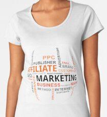 word cloud - affiliate marketing Women's Premium T-Shirt