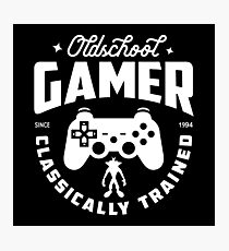 Oldschool Gamer - Playstation Photographic Print