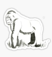Sumi-E Gorilla (small) Sticker