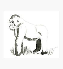 Sumi-E Gorilla (small) Photographic Print