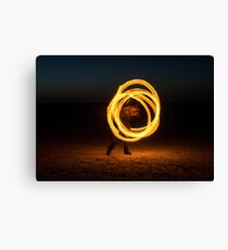 Fire Spinning Canvas Print