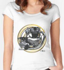 Triumph Bonneville Engine Art Women's Fitted Scoop T-Shirt