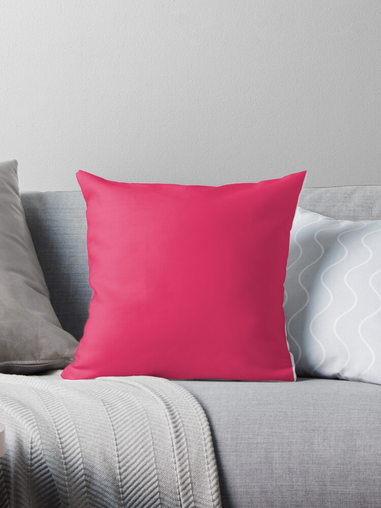'Radical Red Solid Color' Throw Pillow by patternplaten on linear home designs, outrageous home designs, dramatic home designs,