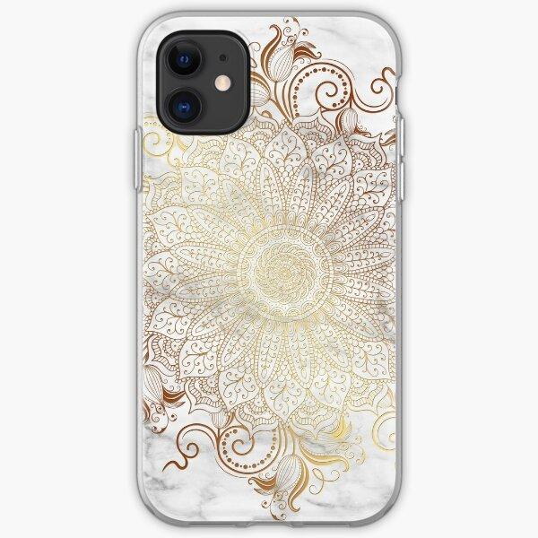 Mandala - Marble gold iPhone Soft Case