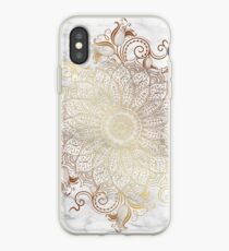 Vinilo o funda para iPhone Mandala - Oro de mármol