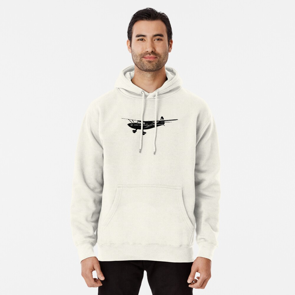 Stinson Voyager Aircraft Pullover Hoodie