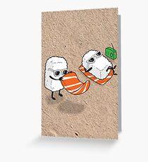Sushi-sun Greeting Card
